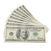 Pilha de dólares americanos — Foto Stock