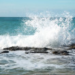 Big waves breaking on the shore — Stock Photo #5843705