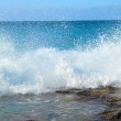Big waves breaking on the shore — Stock Photo #5848499