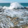 Stock Photo: Big waves breaking on the shore
