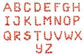 Alfabeto de saúde morango — Foto Stock