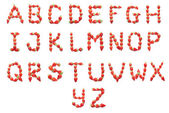 Jahodová zdraví abeceda — Stock fotografie