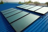 Solar water heating system — Stock Photo