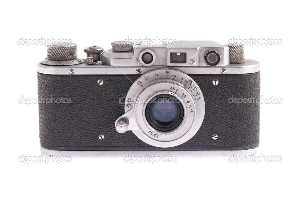 Retro camera isolated on the white background — Stock Photo #5842042