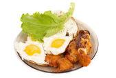 Fried eggs — Stock Photo