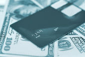 Credit card with money — Stock Photo
