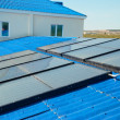 Solar water heating system - Stock Photo