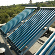 Стоковое фото: Vacuum solar water heating system