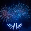 Stock Photo: Blue fireworks