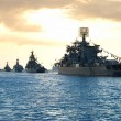 Row of military ships — Stock Photo #6055130