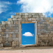 Wall with entrance — Stock Photo #6056165