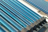 Vacuum solar water heating system — Stock Photo