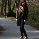 Nice walking girl — Stock Photo #5382595