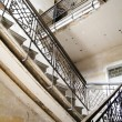Old limestone stairs in the very old house — Stock Photo