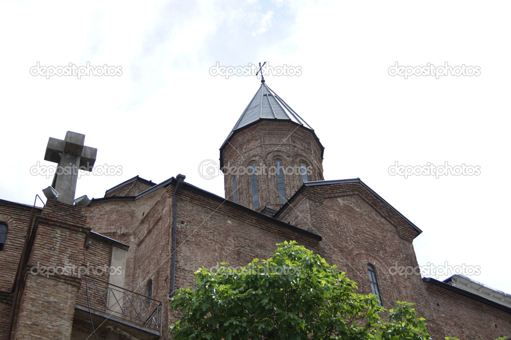 Churches and domes of Tbilisi, view to historical part of the capital of Republic of Georgia — Stock Photo #5943660