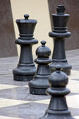 Outdoor chess game in Tbilisi city park, Republic of Georgia — Stock Photo