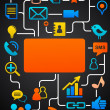 Royalty-Free Stock Vector Image: Social network background with media icons