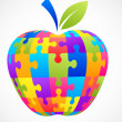 Apple puzzle - Stock Vector
