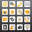 Social network vector icons — Stock Vector