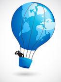 World air balloon — Stock Vector