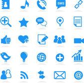 Social network vector icons — Stock Vector