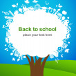 Back to school - tree with education icons — 图库矢量图片