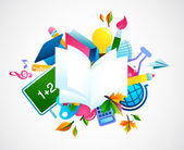 Back to school - colorful background — Stock Vector
