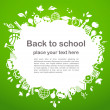 Royalty-Free Stock Vector Image: Back to school - background with education icons