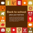 Back to school - background with education icons — Imagens vectoriais em stock
