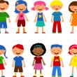 Kids - set of cute illustrations, vector — Stock Vector