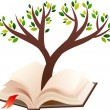 Royalty-Free Stock Vector Image: Illustration of tree growing in open book