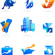Collection of business and consulting icons — Stockvectorbeeld