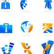 Collection of business and consulting icons - Stock Vector
