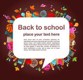 Tillbaka till skolan - bakgrund med utbildning ikoner — Stockvektor