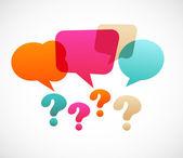 Soru işareti ile konuşma bubles — Stok Vektör
