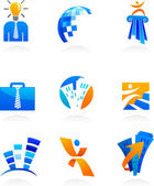 Collection of business and consulting icons — Stock Vector