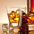 Stock Photo: Whiskey on the rocks