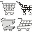 Shopping cart icons — Stockvectorbeeld
