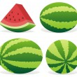 Watermelon icons — Stock Vector