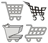 Shopping cart ikoner — Stockvektor