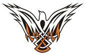 Bird Celtic icon — Stock Vector