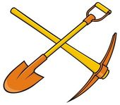 Pickaxe and shovel — Stock Vector