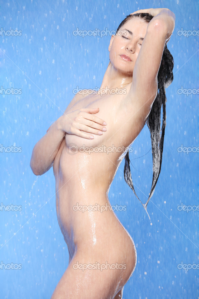 Beautiful young woman taking shower  — ストック写真 #5427678