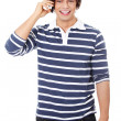 A handsome happy man using mobile phone. — Stock Photo #5795019