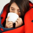 Young woman caught cold. — Stock Photo #5795180
