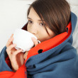 Young woman caught cold. — Stock Photo #5795190