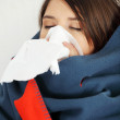 Young woman at home having flu. — Stock Photo #5795200