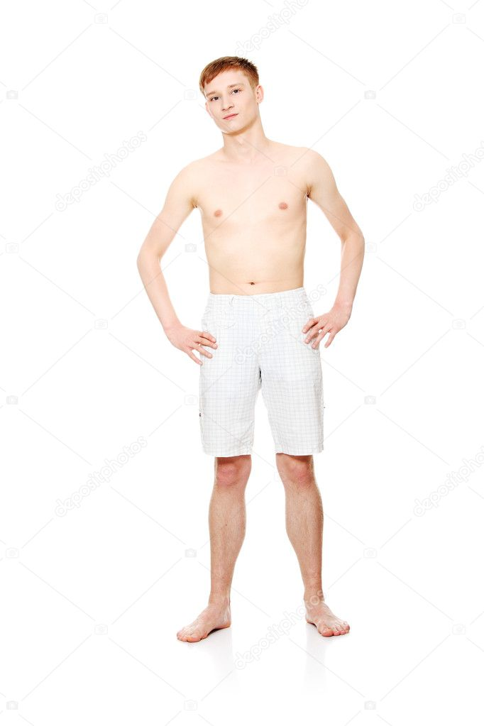 Young man clothed for summer isolated on white — Stock Photo #5795541