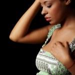 Depressed pregnant woman — Stock Photo