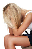 落ち込んで若い女性 — ストック写真